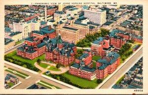 Maryland Baltimore Johns Hopkins Hospital Panoramic View