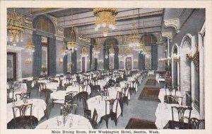 Washington Seattle Interior Main Dining Room Washington Hotel