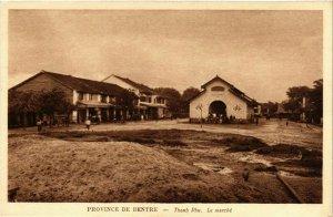 CPA AK INDOCHINA Province de Bentre Thanh Phu. Le Marche VIETNAM (957139)