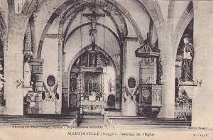 Martinville (Vosges)-interieur de l'Eglise , France , 00-10s , 00-10s