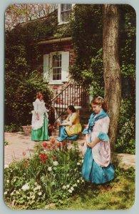 Dover Delaware~Three Ladies Sitting Next To Trees~Vintage Postcard