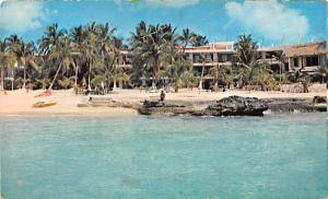 Mexico Old Vintage Antique Post Card Playa del Hotel Cozumel 1971