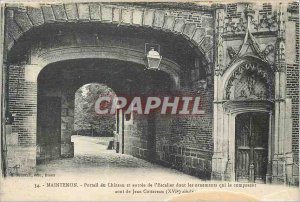 Old Postcard Maintenon Chateau du Portail and entrance to the staircase with ...