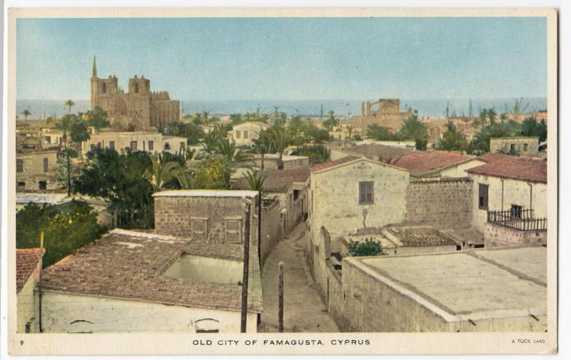 Cyprus; Old City Of Famagusta PPC By Tuck, Unposted, c 1950's