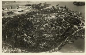 sweden, SKANSEN, Flygbild från Norr (1940s) Aerial View