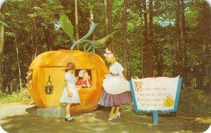 ENCHANTED FOREST Old Forge, NY Peter Pumpkin-eater Fantasy Vintage Postcard