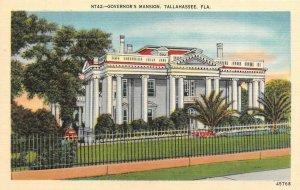 TALLAHASSEE, FL  Florida      GOVERNOR'S MANSION       c1940's Linen Postcard