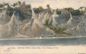 Chimney Bluffs near Sodus Bay on Lake Ontario NY, New York - UDB