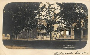 Croghan NY Town View By Mandeville, Photo 1906 Real Photo Postcard