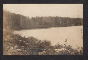 ME Wood Pond Henderson's Camps Jackman MAINE Real Photo Postcard RPPC RP PC