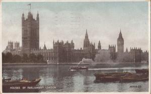 United Kingdom, London, Houses of Parliament, used Postcard
