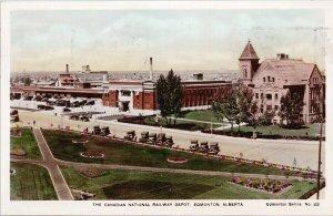 Edmonton AB Canadian National Railway Depot CNR Camera Products 22 Postcard G30