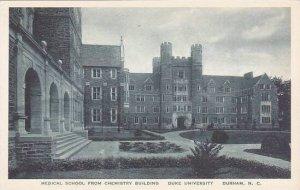North Carolina Durham Medical School From Chemistry Building Duke University ...