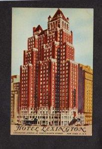 NY Hotel Lexington New York City NYC Postcard Home of Hawaiian Room