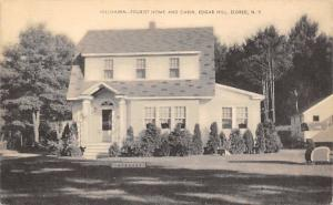 Eldred New York~Edgar Hill~Hillhaven~Tourist Home and Cabin~1939 B&W Postcard