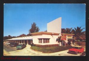 MIAMI FLORIDA TOWNE MOTEL 1950's CARS VINTAGE ADVERTISING