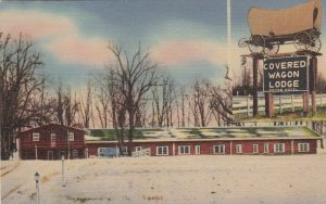 Indiana Vincennes Covered Wagon Lodge 1954 sk5460
