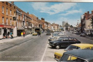P1927 vintage postcard high street marlborough royal oak steak house UK old cars