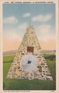 Virginia Fort Chiswell Monument In Southwestern Virginia