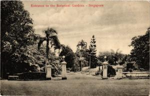 CPA AK SINGAPORE Entrance to the Botanical Gardens (a1479)