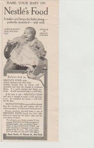 Nestle Baby Food Antique Ear;u 1900s Print Ad, Lewis Burnett, 9 Months Old