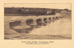 Newburyport Massachusetts Parker River Bridge Antique Postcard J76343