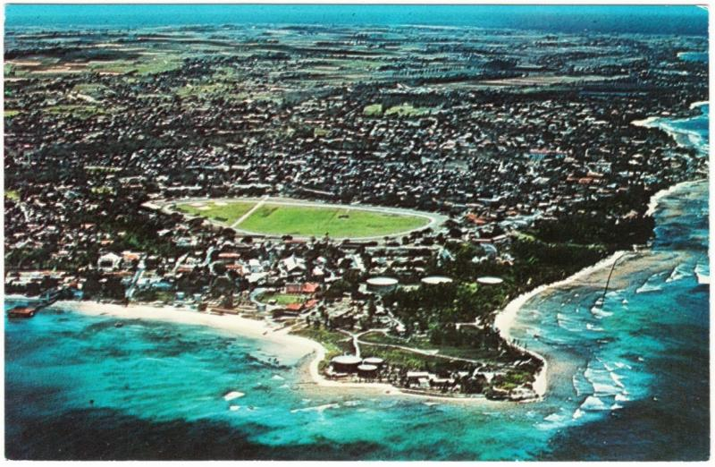 Barbados Seawell Airport Aerial View 1960s Postcard