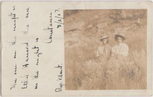 Montana MT Real Photo RPPC Postcard 1907 BILLINGS Women Field Large HATS