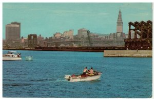 Postcard - Skyline of Cleveland, Ohio from Lake Erie