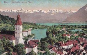Thun Totalansicht Antique Switzerland Postcard