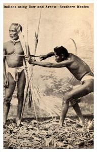 Southern Mexico ,  Indians using Bow and Arrows,  RPC