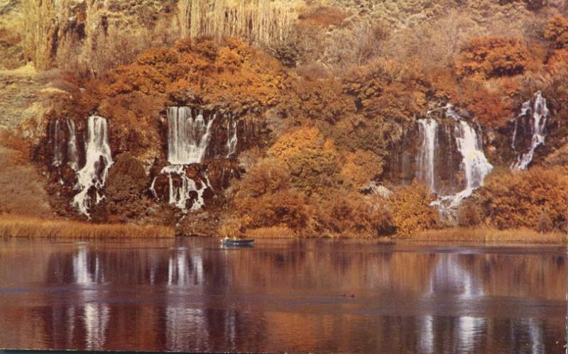 Fall Scene of Quartet Falls of 3000 Springs - Hagerman, Idaho