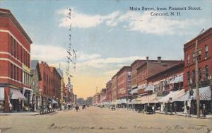 New Hampshire Concord Main Street From Pleasant Street 1920