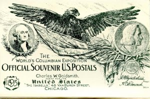 World's Columbian Exposition Postals - Set of 12  *Reproduction*