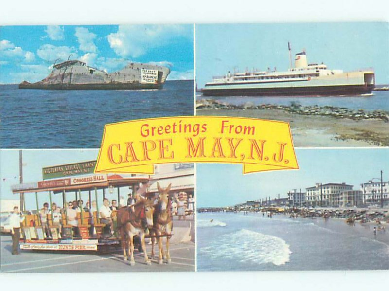 Pre-1980 FOR SCENES ON ONE POSTCARD Cape May by Wildwood & Vineland NJ AF4173