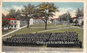 Indian Students and General View of Buildings, Indian School Carlisle, Pennsy...