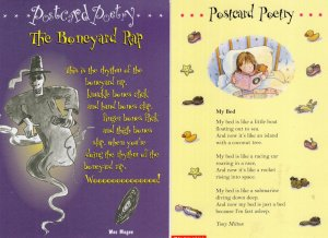 The Boneyard Rap & Other Poems Childrens Poetry Book Advertising 2x Postcard