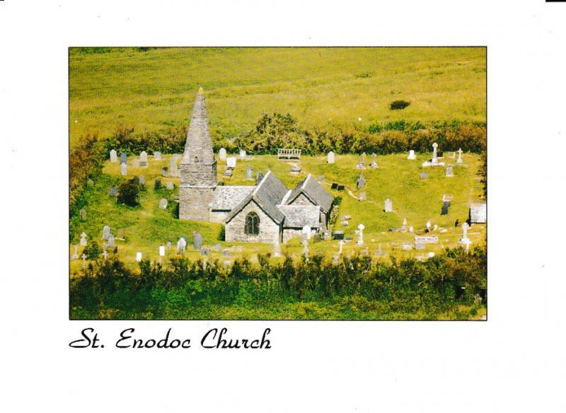 postcard Cornwall Trebetherick ST. ENODOC CHURCH unposted