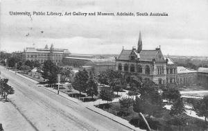 South Australia Adelaide Art Gallery and Museum University Public Library 1909