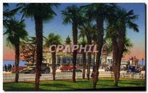 Postcard Old Nice Jardin Albert 1er The pier walk