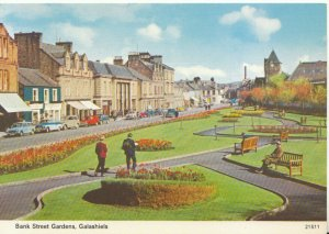 Scotland Postcard - Bank Street Gardens - Galashiels - Selkirkshire - Ref 20624A