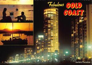 Australia The Gold Coast Queensland Esplanade Harbour Boats Postcard