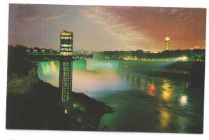 Canada Niagara Falls Illuminated Observation Tower Night