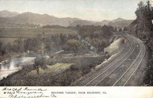 Elliston Virginia Roanoke Valley Railroad Antique Postcard K61945