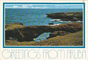 Greetings From Aruba North Coast and Natural Bridge