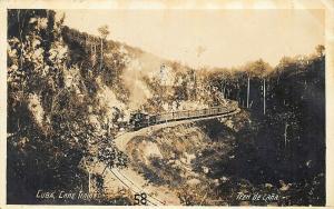 Cane Train to Güines Cuba See Message Real Photo Postcard