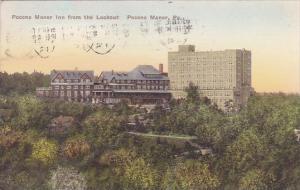 Pocono Manor Inn From The Lookout Pocono Manor Pennsylvania Handcolored Alber...