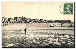 Old Postcard Berck Plage Panorama of the beach at low tide