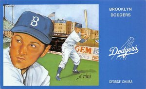 George Sheba Brooklyn Dodgers Baseball Unused