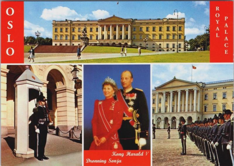 Oslo Norway The Royal Palace Unused Vintage Multiview Postcard D34